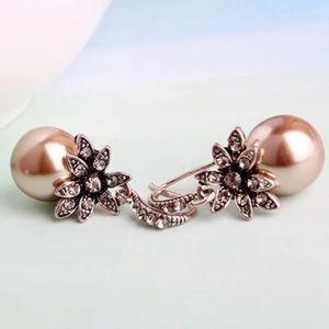 LOVELY Silver & Faux Pearl Earring
